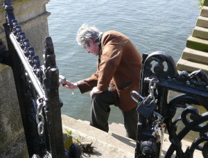 Tony McSweeny capturing Hidden Twickenham. Picture by Yvonne Hewett
